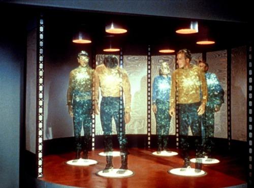 """Una escena de teletransportación en """"Star Trek"""""""